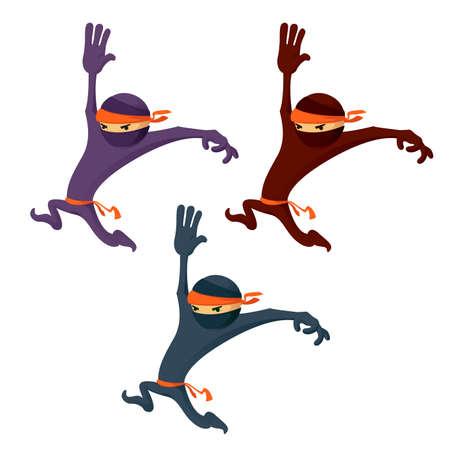 Vector image of a cartoon ninja or karate man
