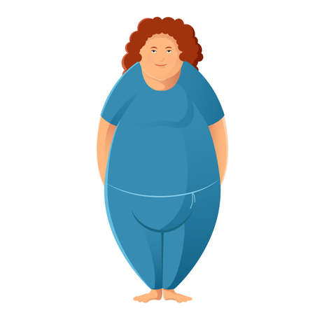 Vector image of a sport Plump woman Illustration