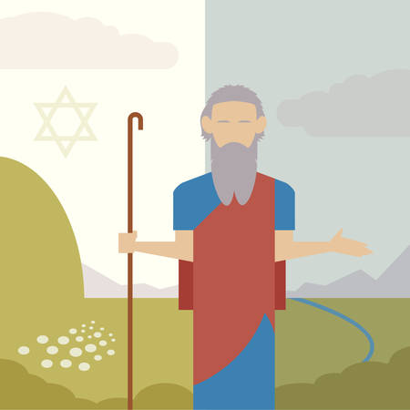 commandments: Vector image of an icon of Moses Illustration