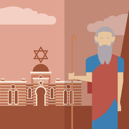 Vector image of an icon of Moses Illustration