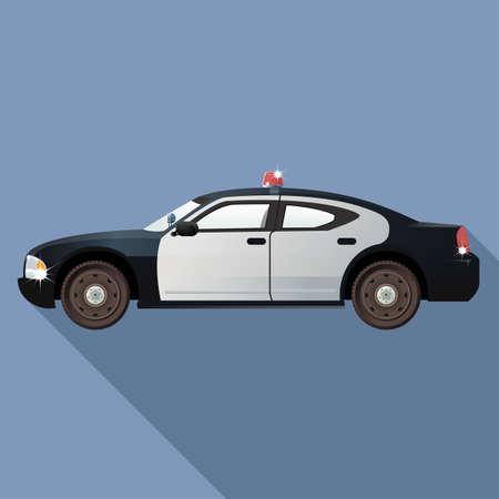 Vector image of a real looking Police car Vector