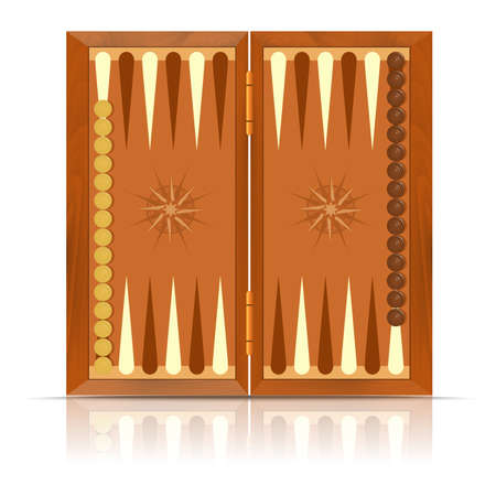 backgammon: Vector image of an icon of Backgammon