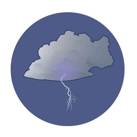 dark cloud: Vector de imagen de una nube oscura con un rayo