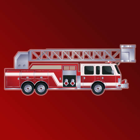 red metal: Vector image of a red metal Firetrack Illustration