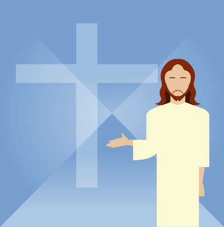 Vector image of a Flat icon Jesus