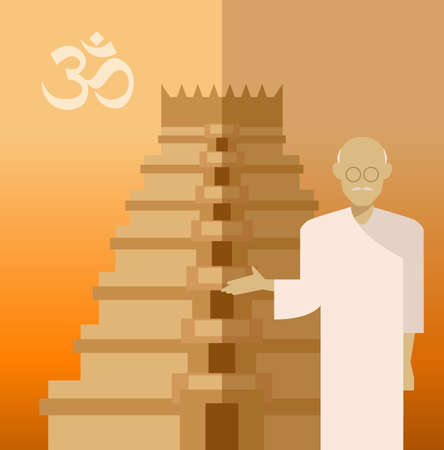 popular belief: Vector image of a concept of religion of Hindu Illustration