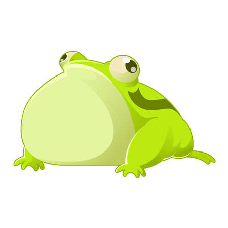 character traits: Vector image of a green cartoon toad