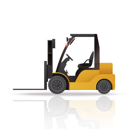 yelllow: Vector image of an yelllow auto loader