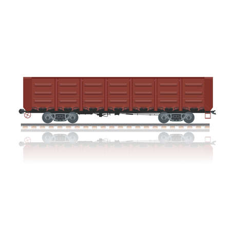 uncovering: Vector image of a red gondola car Illustration