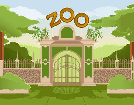 colurful 動物園ゲートの画像
