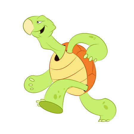 very: Vector image of a very fast turtle which wants to win the race