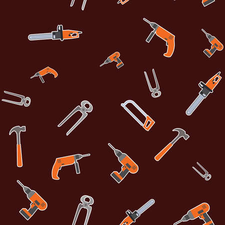 sander: Vector image of a seamless pattern with diffirent tools for home work