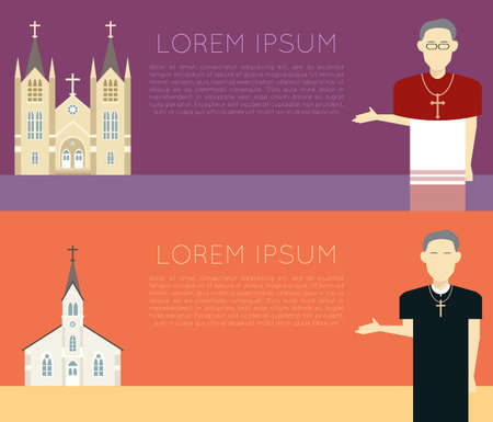 the catholic church: Vector image of a catholic church banner Illustration
