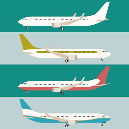 Vector image of a Flat set of planes