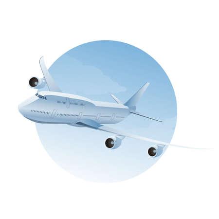 piloto: Vector imagen de un avi�n en el aire cloudly