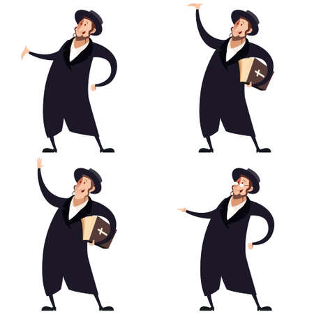 hasid: Vector image of a Set of Jews Illustration