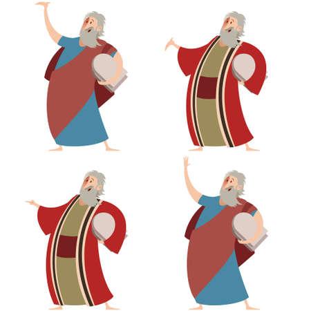 pesah: Vector image of a Set of Moses