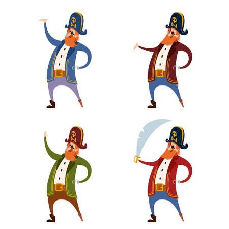 Image vectorielle de l'Ensemble de Pirates Banque d'images - 49781621