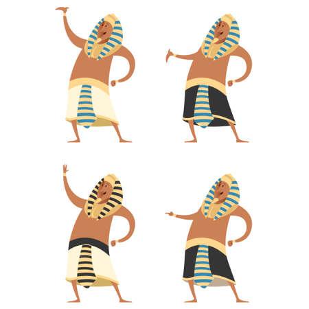 tutankhamen: Vector image of the Set of Pharaons