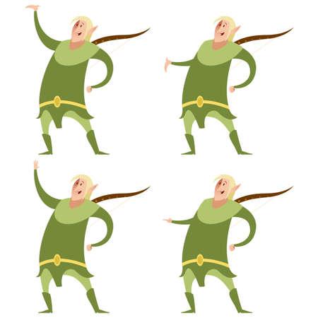 Vector image of a Set of fantasy elves Imagens - 50640441