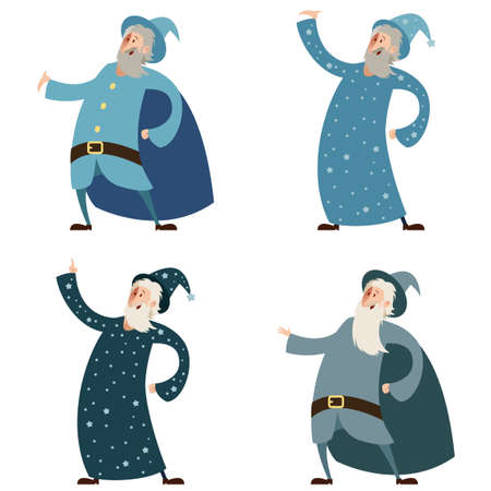 wizards: Vector image of a Set of wizards