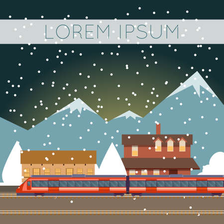 suburban: Vector image of a Suburban train banner