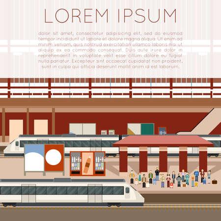 Vector de imagen de una estación de trenes Ilustración de vector