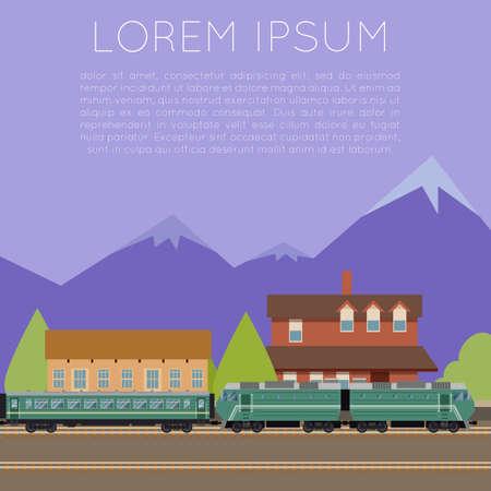 Vector image of a Suburban train banner
