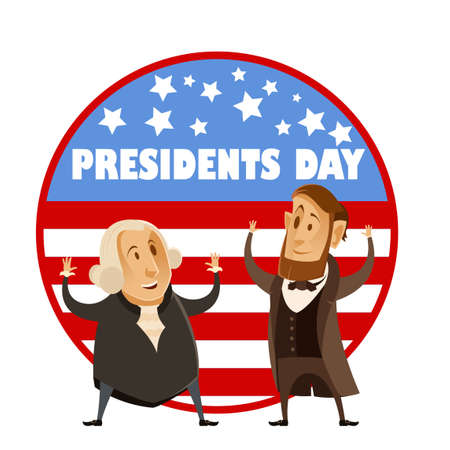 george washington: Vector image of the Presidents day banner