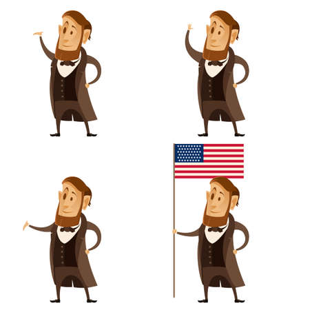 Vector image of a Set of Lincoln presidents