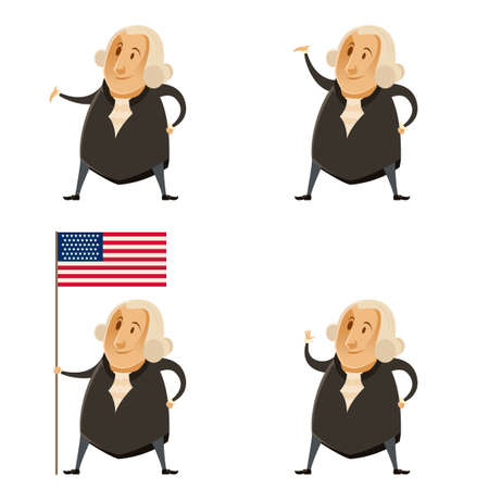 george washington: Vector image of a Set of Washington presidents