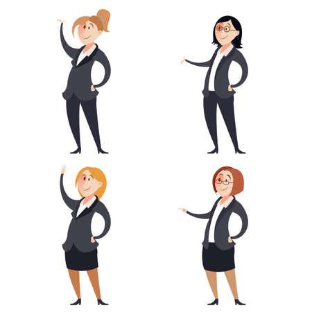 businesswomen: Vector image of a Set of businesswomen