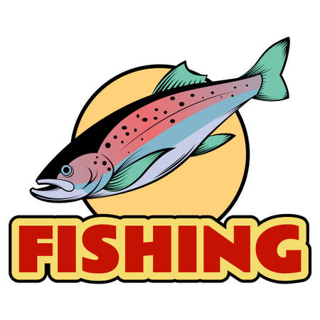 rainbow trout: a colourful line trout banner