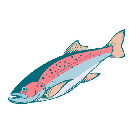 ocean fish: colourful line trout