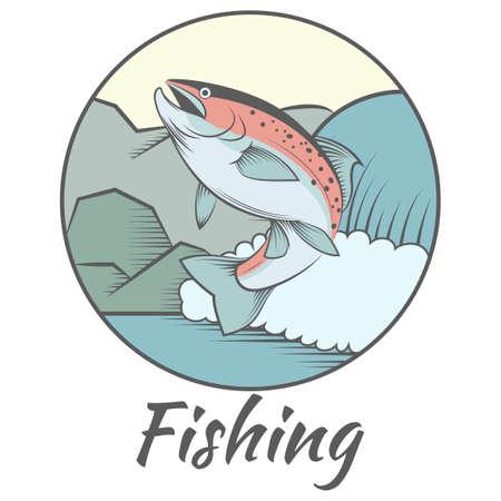escamas de peces: trucha l�nea de colorido