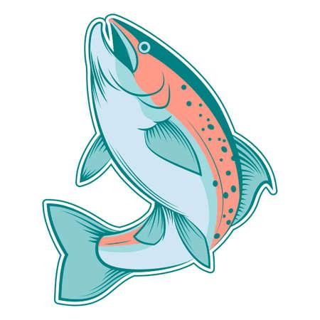 escamas de peces: una trucha l�nea de colorido Vectores
