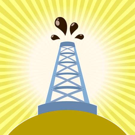 derrick: image of a Oil derrick banner