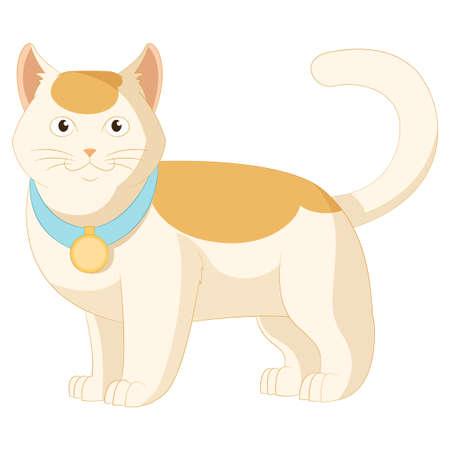 mjau: image of cartoon white and orange cat