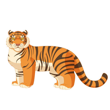 kitty cat: image of the Cartoon standing tiger