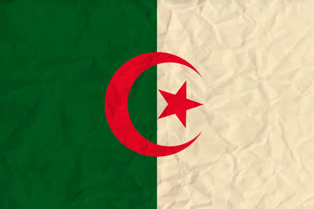 correctly: original and simple Algeria flag isolated vector in official colors and Proportion Correctly Illustration