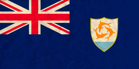 anguilla: Vector image of the Anguilla paper  flag