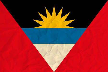 Vector image of Antigua and Barbuda  paper  flag Illustration