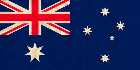Vector image of the Australia  paper  flag