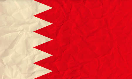 Vector image of the Bahrain paper  flag Illustration
