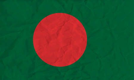 bangladesh: Vector image of the Bangladesh paper  flag