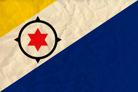 tourisms: Vector image of the Bonaire paper  flag