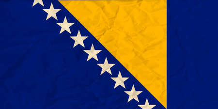 Vector image of the Bosnia and Herzegovina paper  flag Illustration