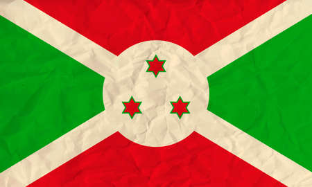 burundi: Vector image of the Burundi paper flag