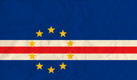 Vector image of the Cape Verde paper  flag