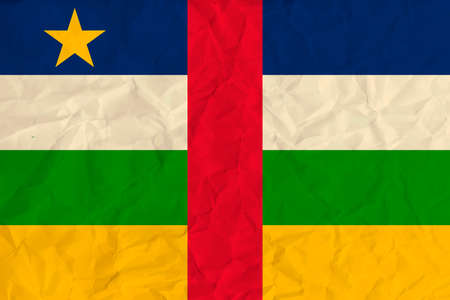 Vector image of the Central African Republic  paper  flag